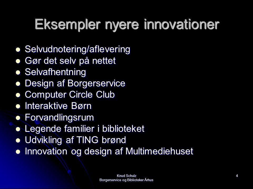 Eksempler nyere innovationer