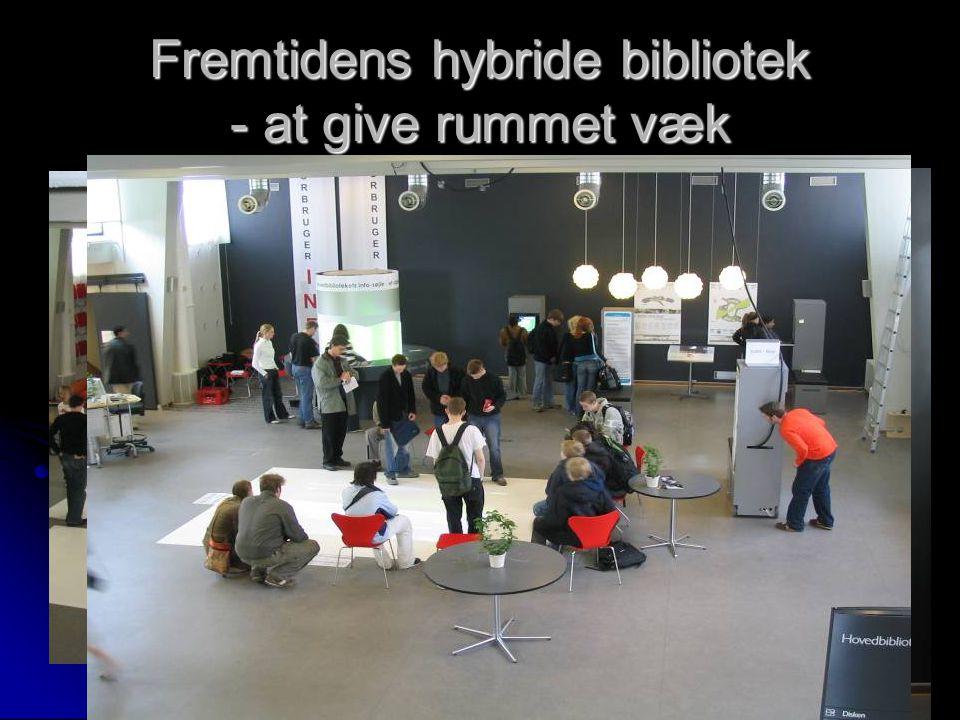 Fremtidens hybride bibliotek - at give rummet væk