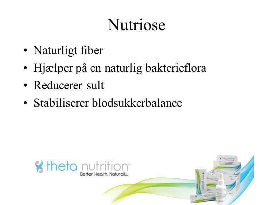 Nutriose Naturligt fiber Hjælper på en naturlig bakterieflora