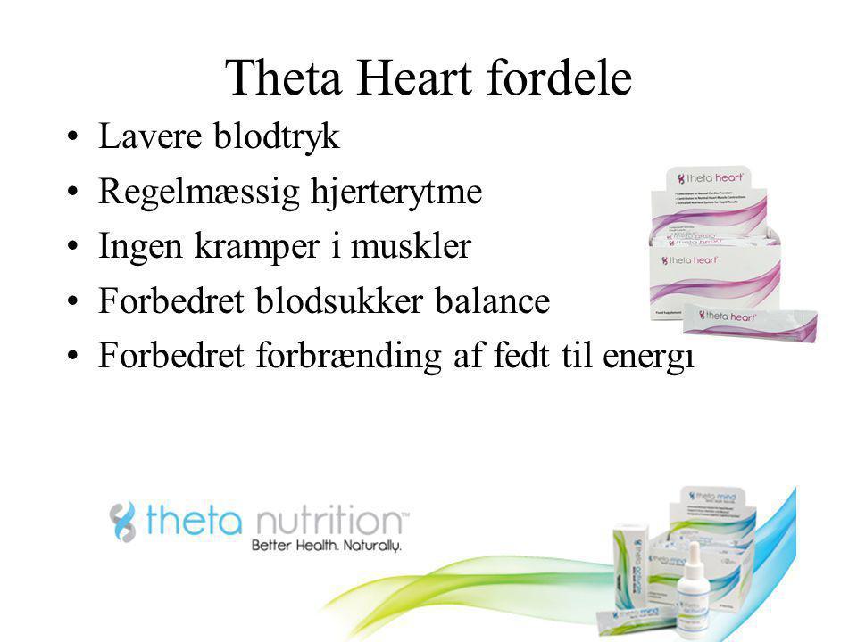 Theta Heart fordele Lavere blodtryk Regelmæssig hjerterytme