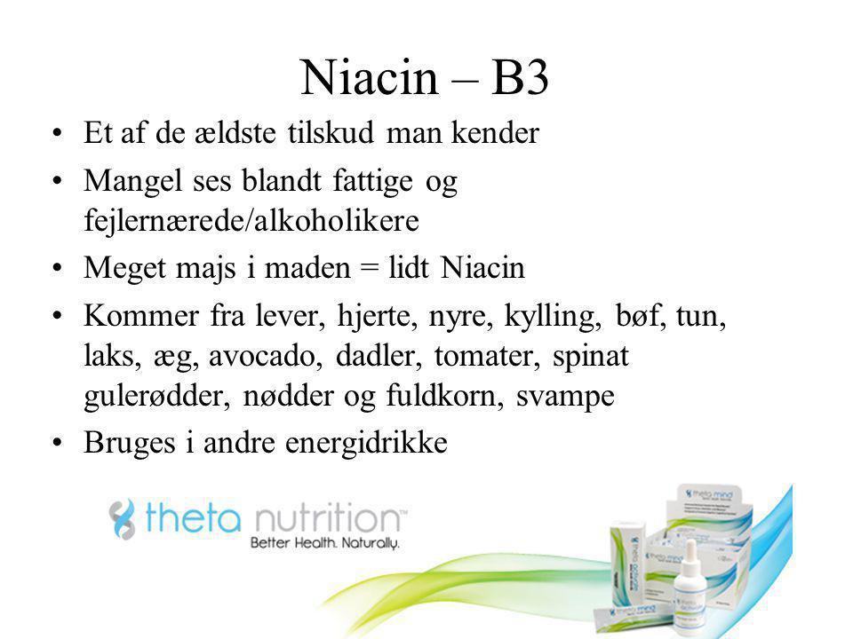 Niacin – B3 Et af de ældste tilskud man kender