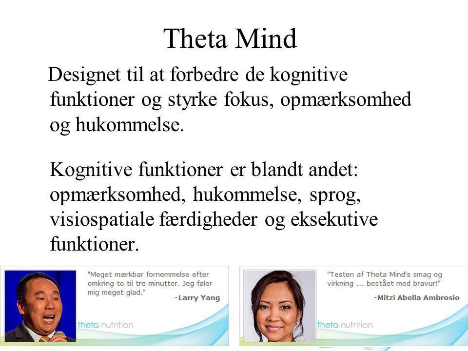Theta Mind Designet til at forbedre de kognitive funktioner og styrke fokus, opmærksomhed og hukommelse.
