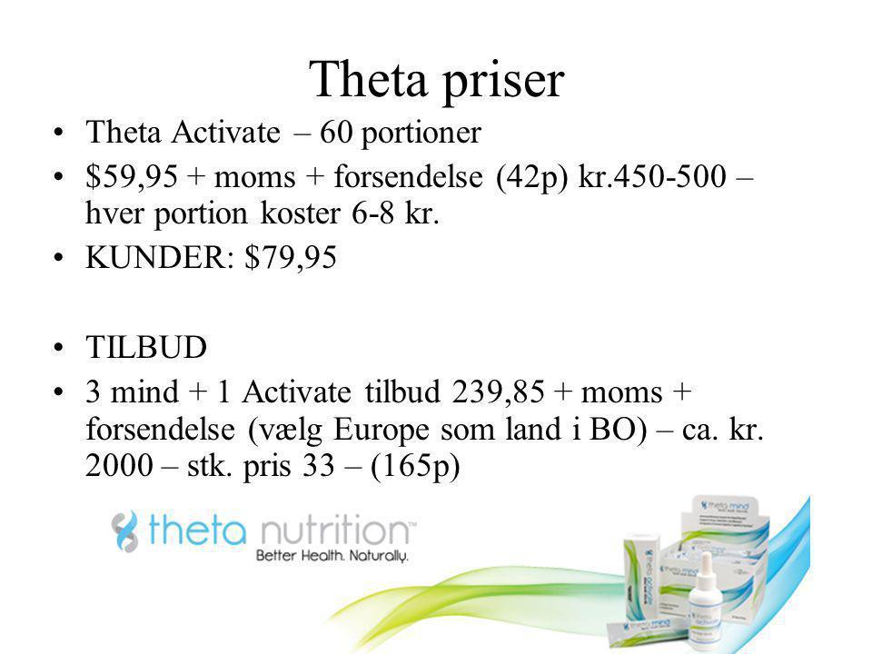 Theta priser Theta Activate – 60 portioner