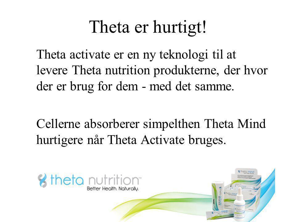Theta er hurtigt! Theta activate er en ny teknologi til at levere Theta nutrition produkterne, der hvor der er brug for dem - med det samme.