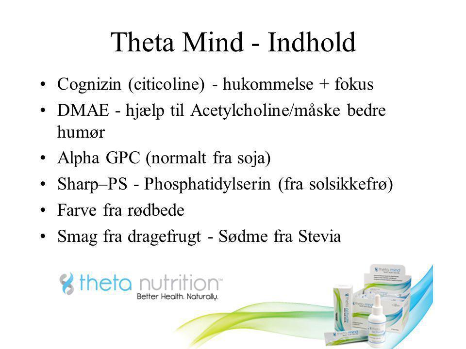 Theta Mind - Indhold Cognizin (citicoline) - hukommelse + fokus