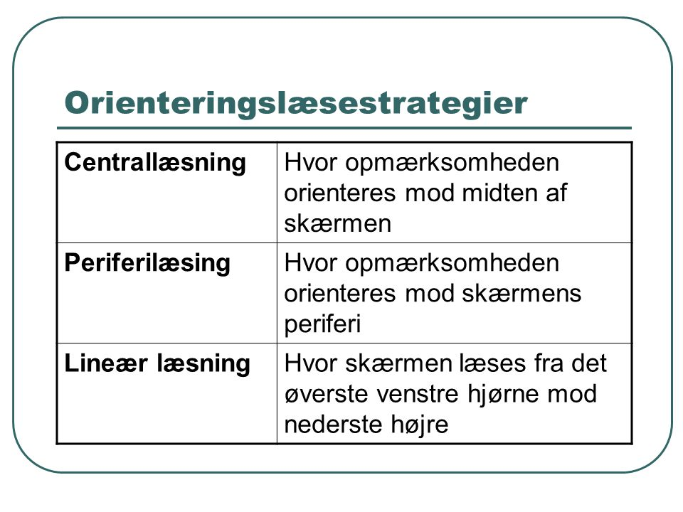 Orienteringslæsestrategier