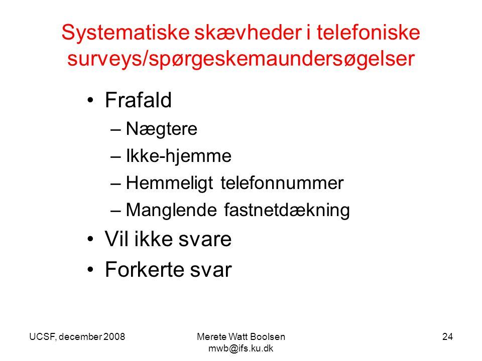 Systematiske skævheder i telefoniske surveys/spørgeskemaundersøgelser