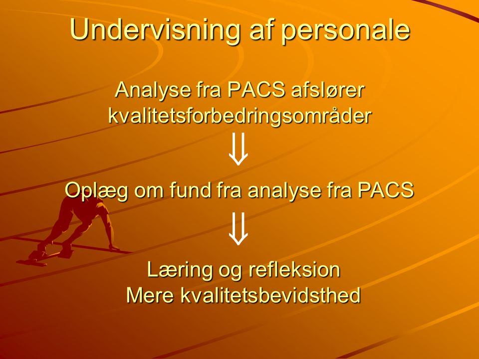 Analyse fra PACS afslører kvalitetsforbedringsområder