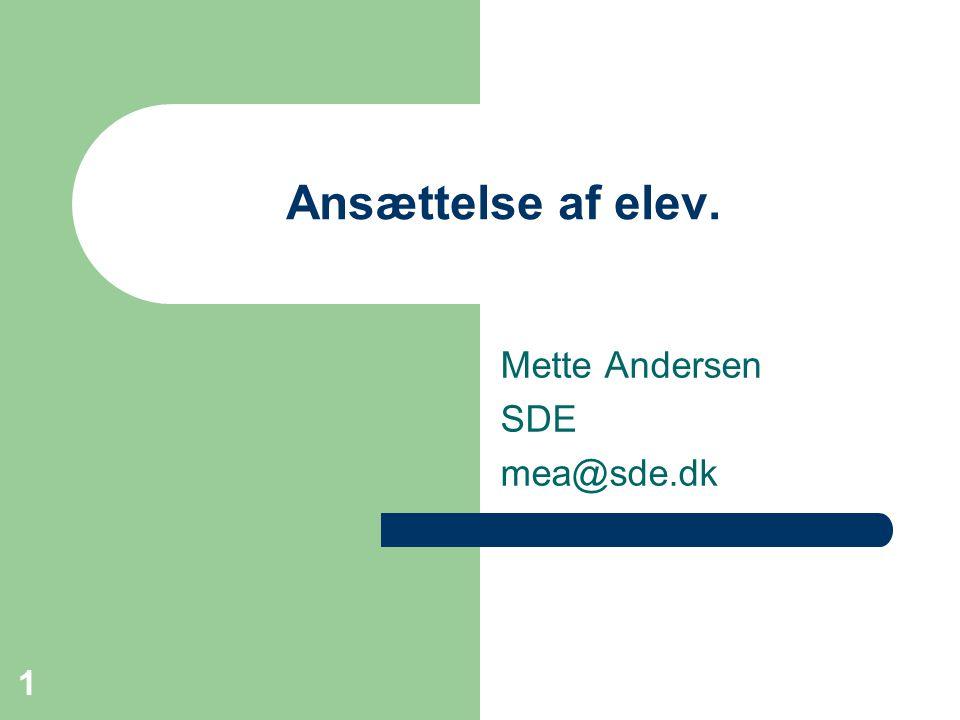 Mette Andersen SDE mea@sde.dk