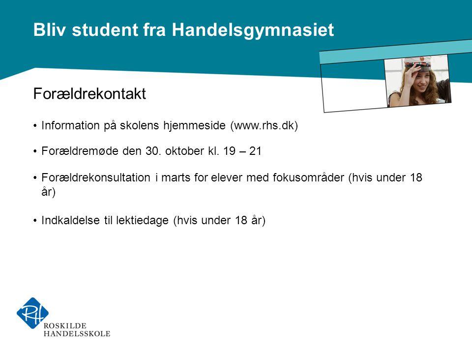 Forældrekontakt Information på skolens hjemmeside (www.rhs.dk)
