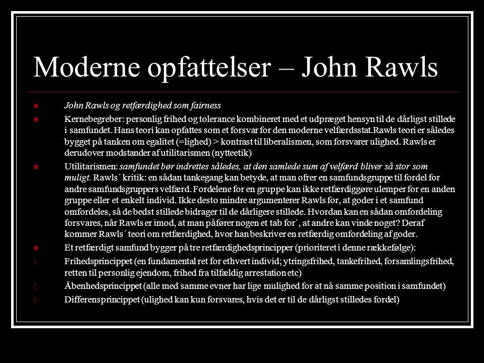 Moderne opfattelser – John Rawls