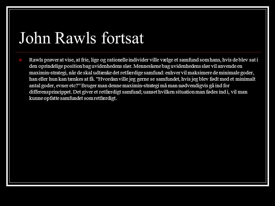 John Rawls fortsat