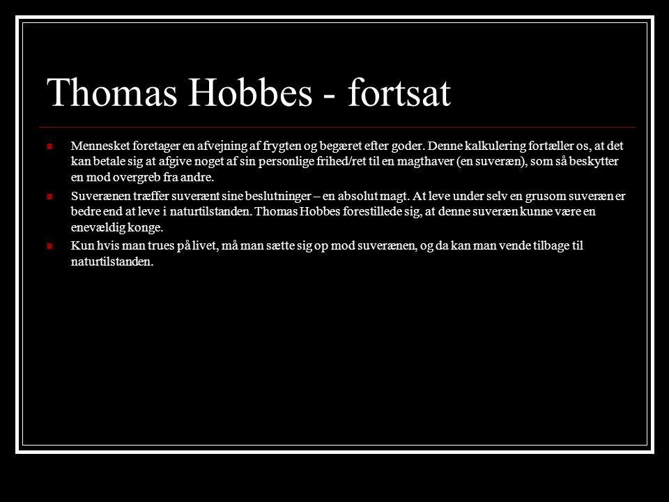 Thomas Hobbes - fortsat