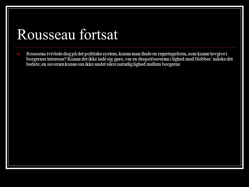 Rousseau fortsat