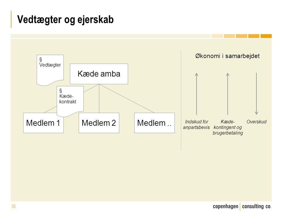 Vedtægter og ejerskab Kæde amba Medlem 1 Medlem 2 Medlem ..
