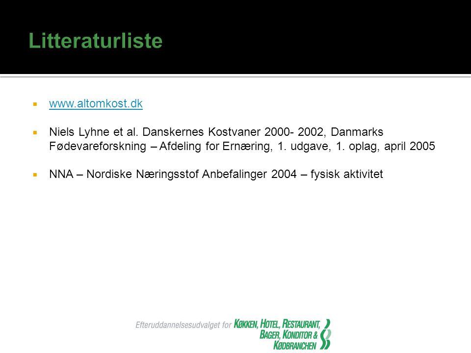 Litteraturliste www.altomkost.dk