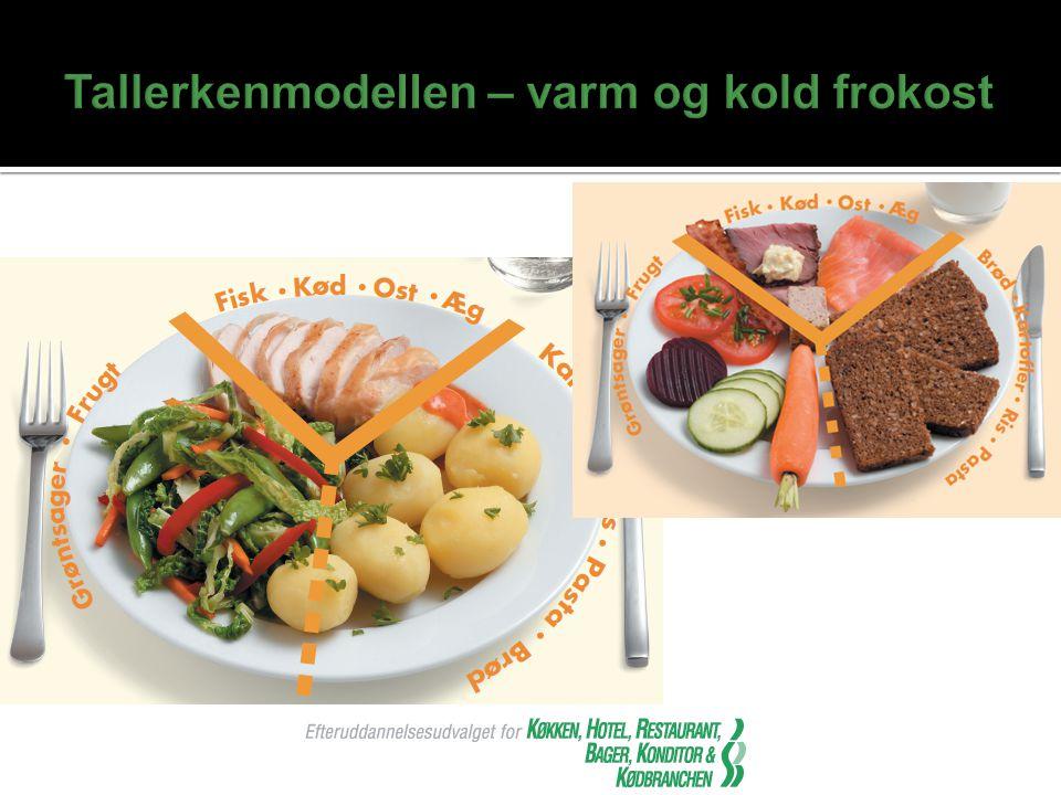Tallerkenmodellen – varm og kold frokost