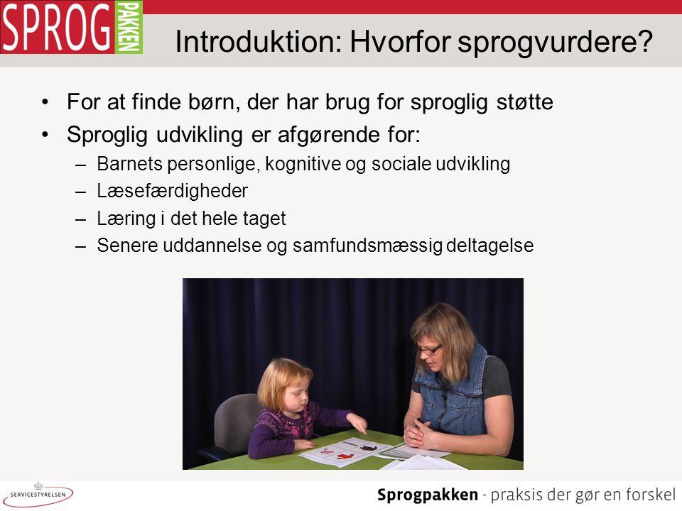 Introduktion: Hvorfor sprogvurdere