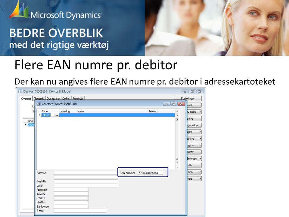 Flere EAN numre pr. debitor