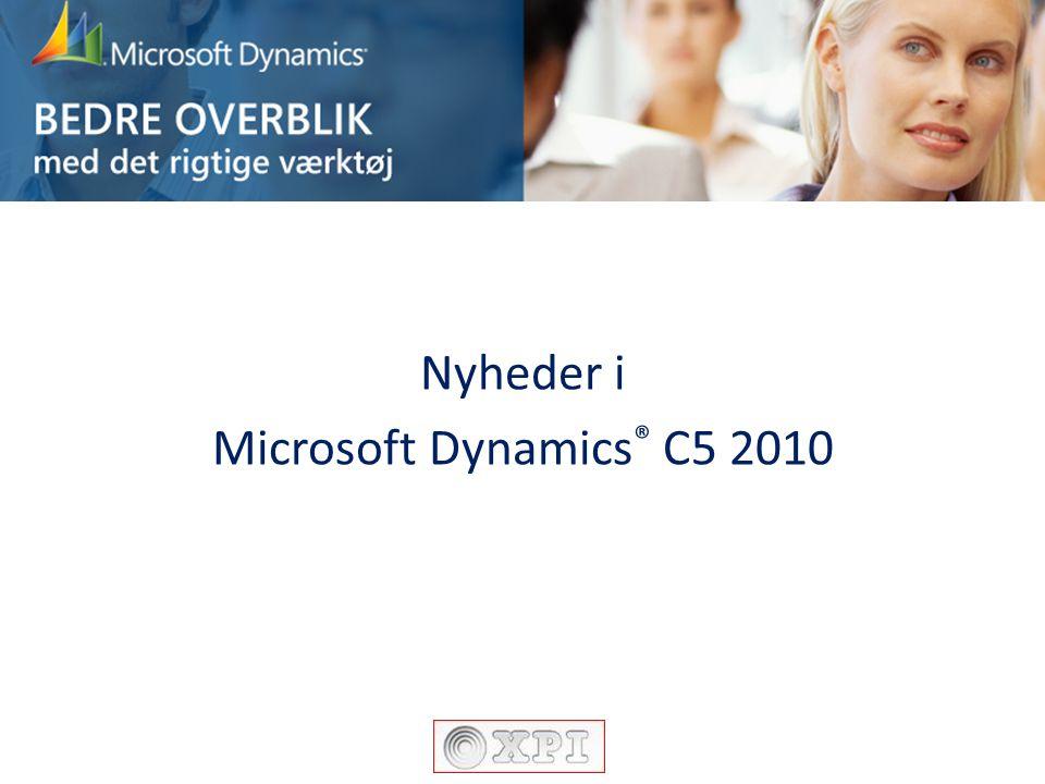 Nyheder i Microsoft Dynamics® C5 2010