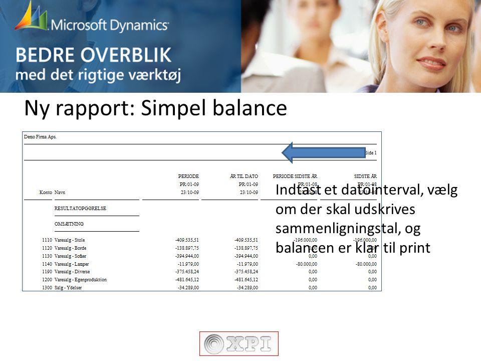 Ny rapport: Simpel balance