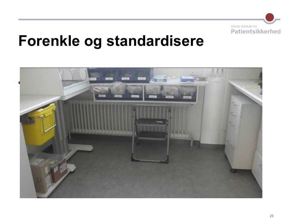 Forenkle og standardisere