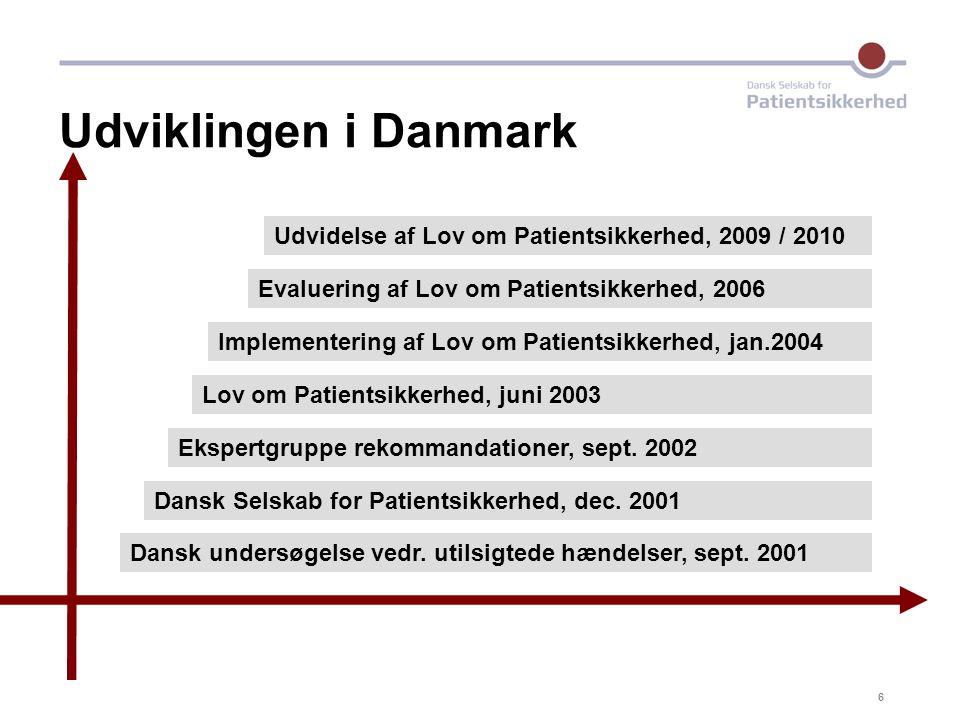 17-04-03 Udviklingen i Danmark. Udvidelse af Lov om Patientsikkerhed, 2009 / 2010.