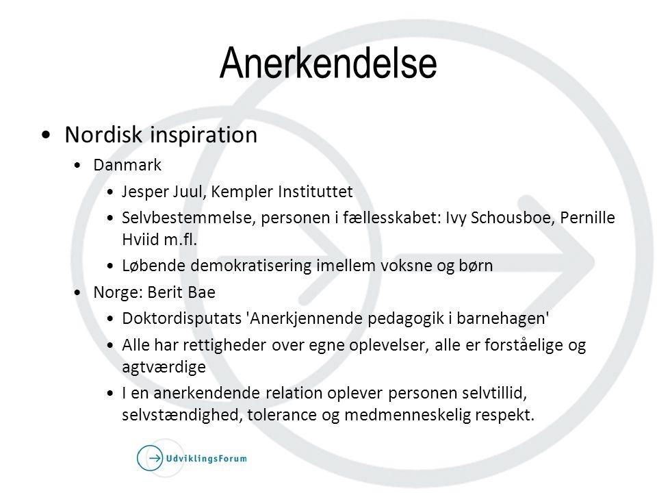 Anerkendelse Nordisk inspiration Danmark