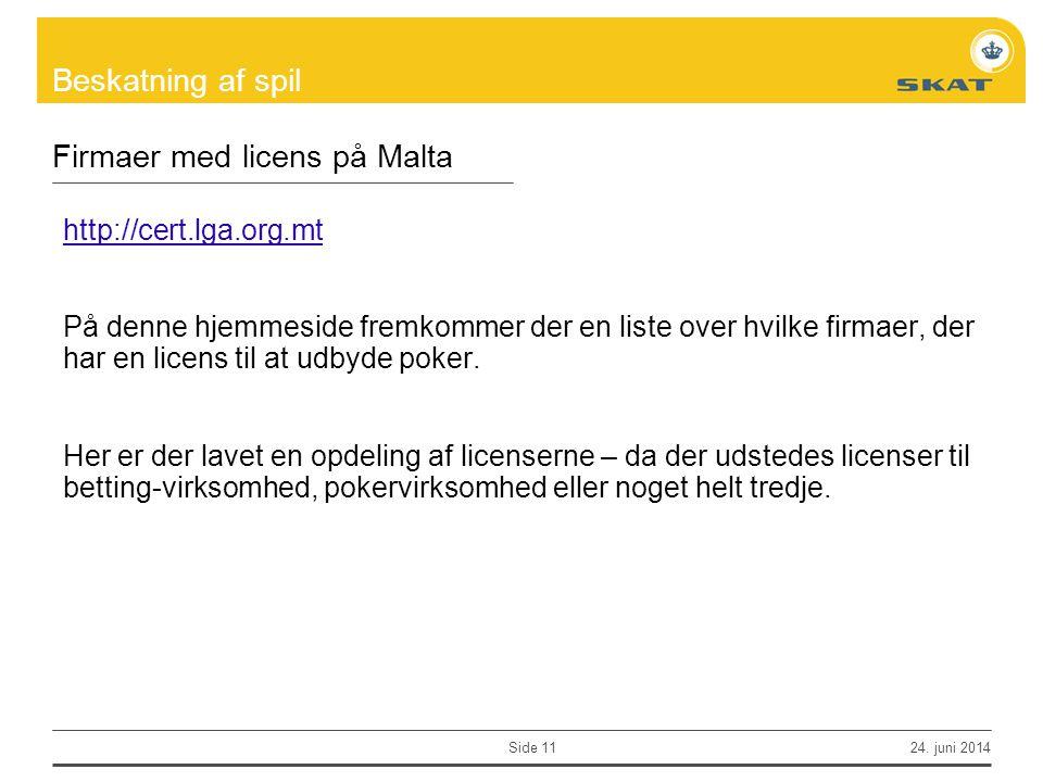 Firmaer med licens på Malta