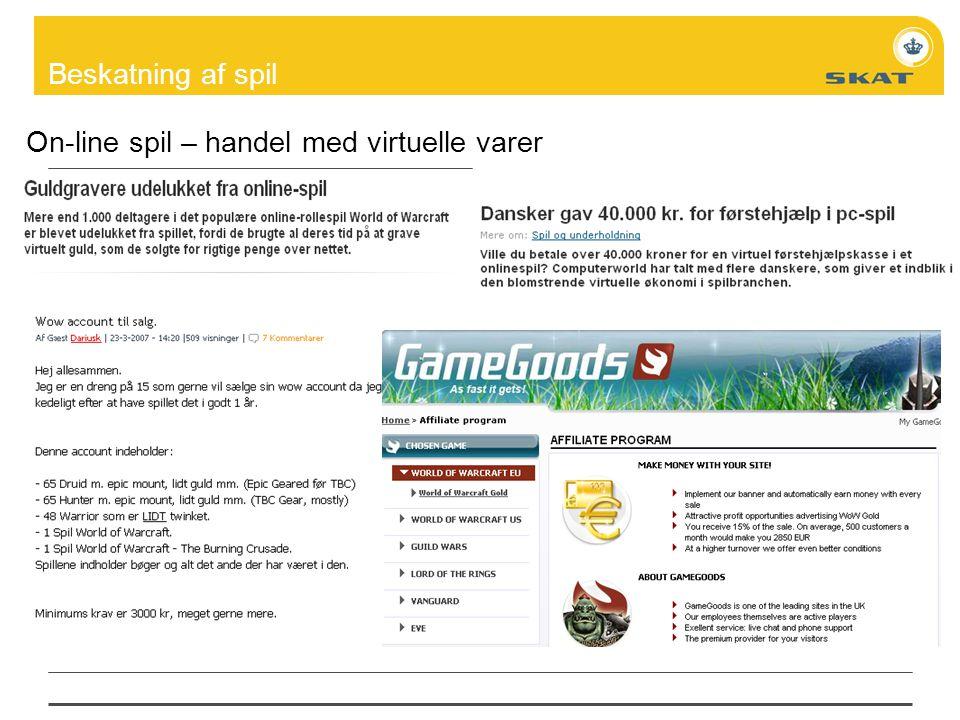 On-line spil – handel med virtuelle varer