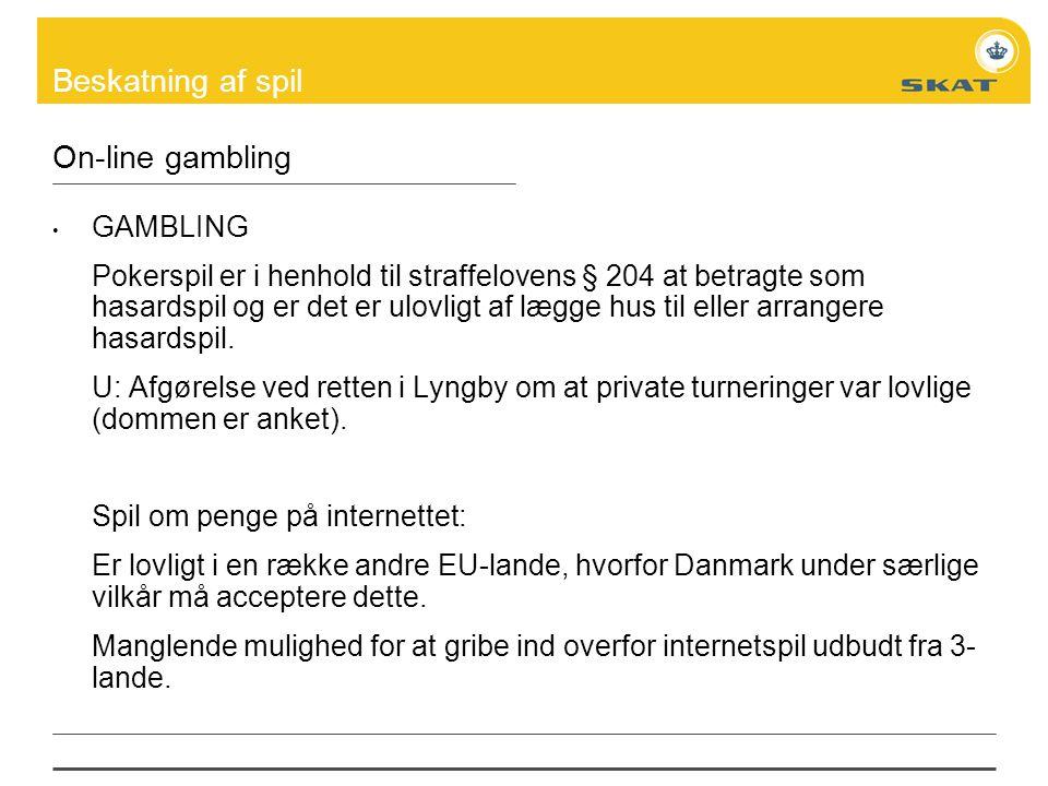 On-line gambling GAMBLING