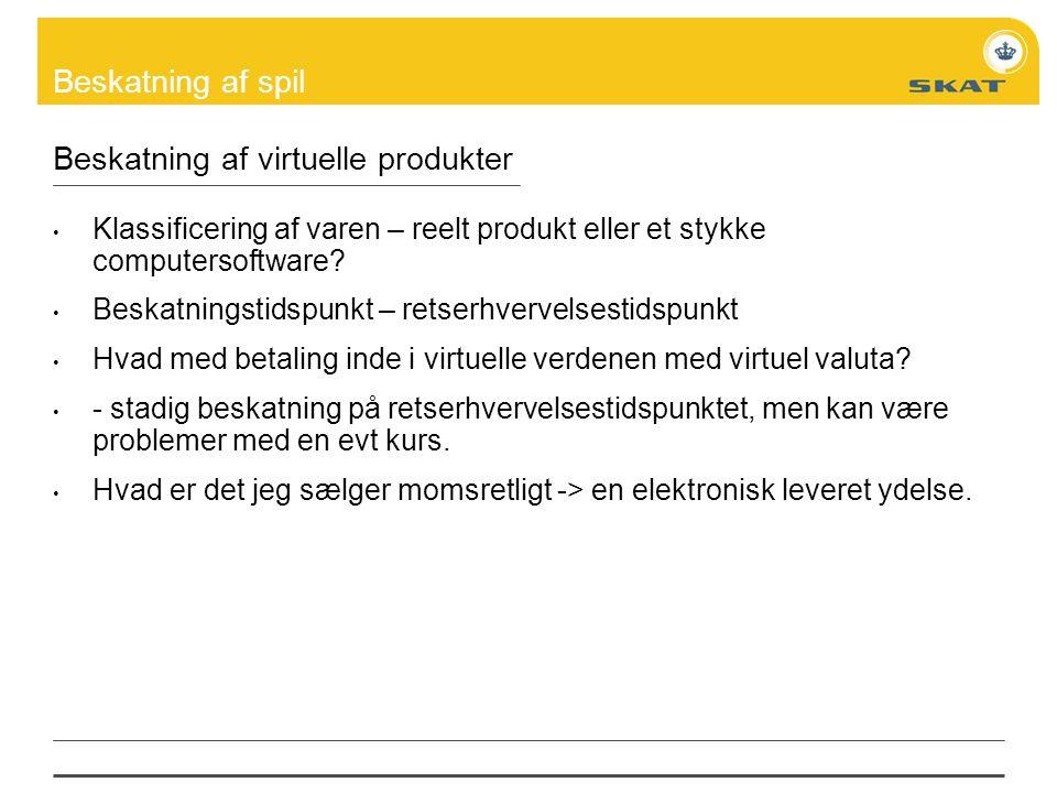 Beskatning af virtuelle produkter
