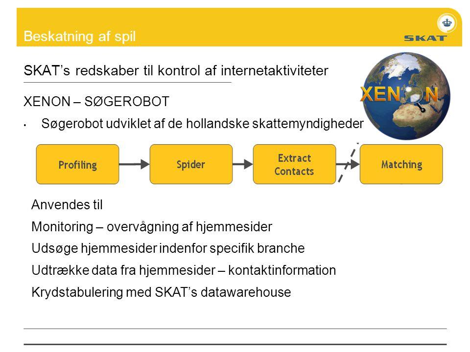SKAT's redskaber til kontrol af internetaktiviteter