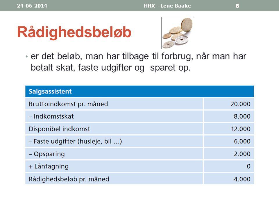 03-04-2017 HHX - Lene Baake. Rådighedsbeløb.