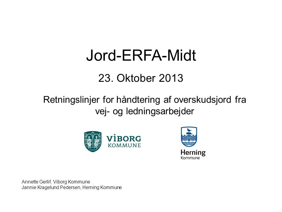 Jord-ERFA-Midt 23. Oktober 2013