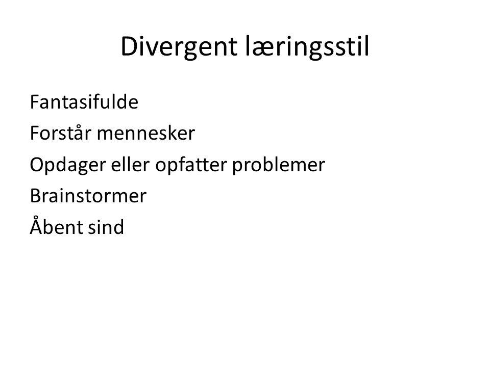 Divergent læringsstil