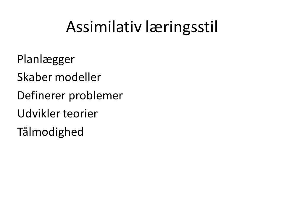 Assimilativ læringsstil