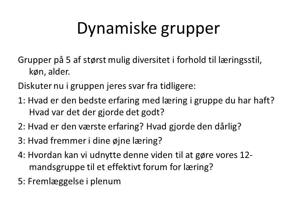 Dynamiske grupper