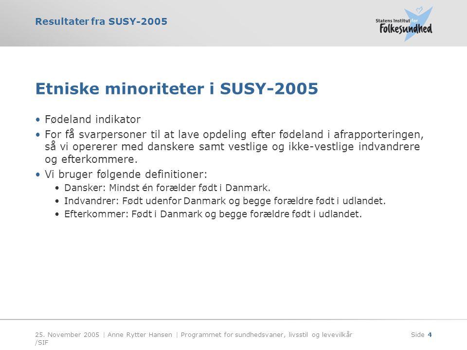 Etniske minoriteter i SUSY-2005