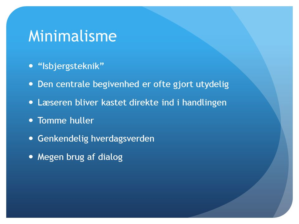 Minimalisme Isbjergsteknik