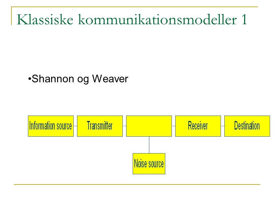 Klassiske kommunikationsmodeller 1