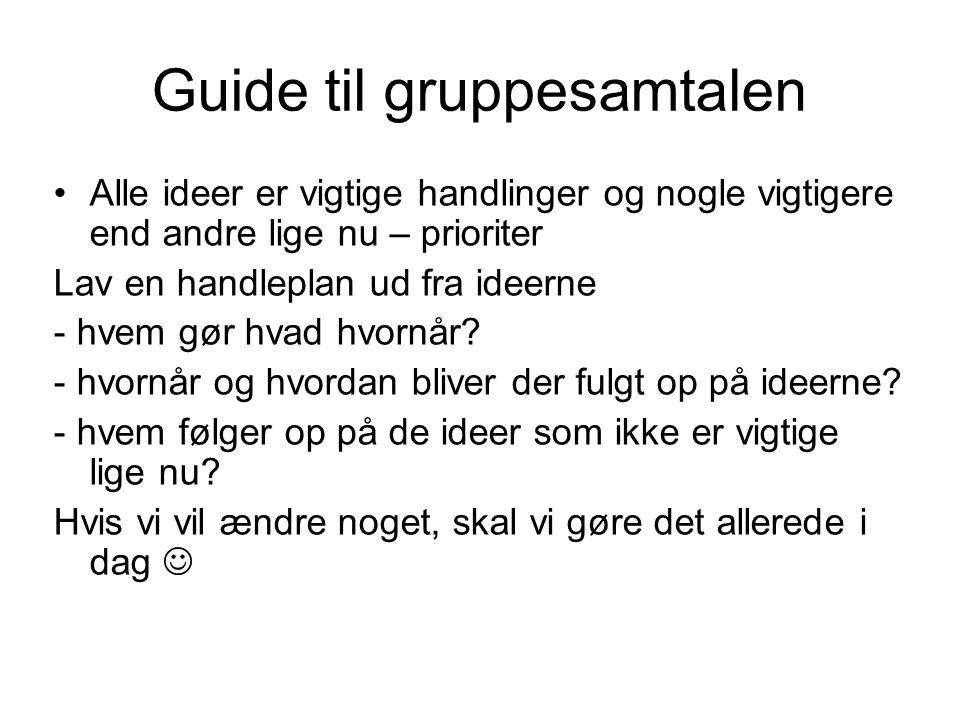 Guide til gruppesamtalen