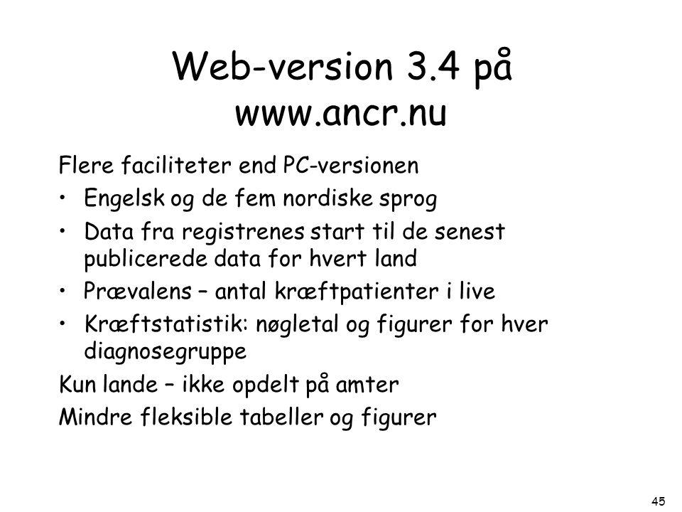 Web-version 3.4 på www.ancr.nu