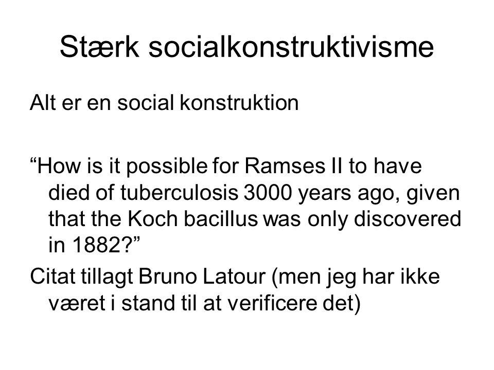 Stærk socialkonstruktivisme