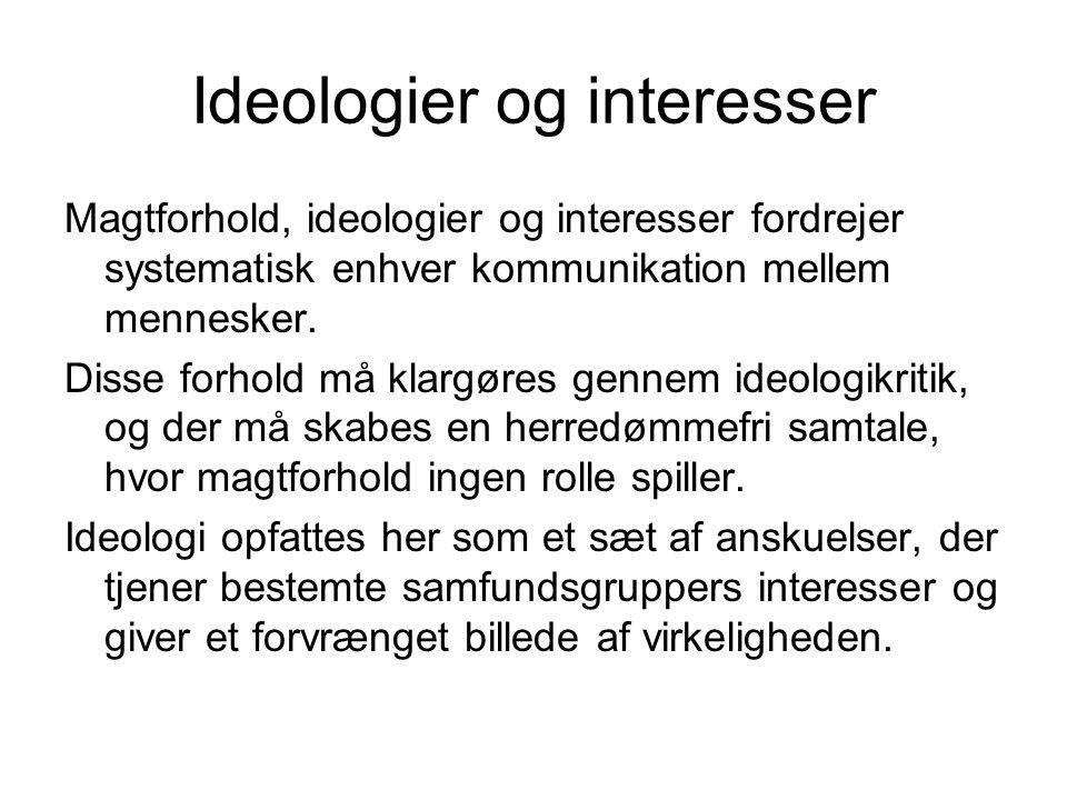 Ideologier og interesser