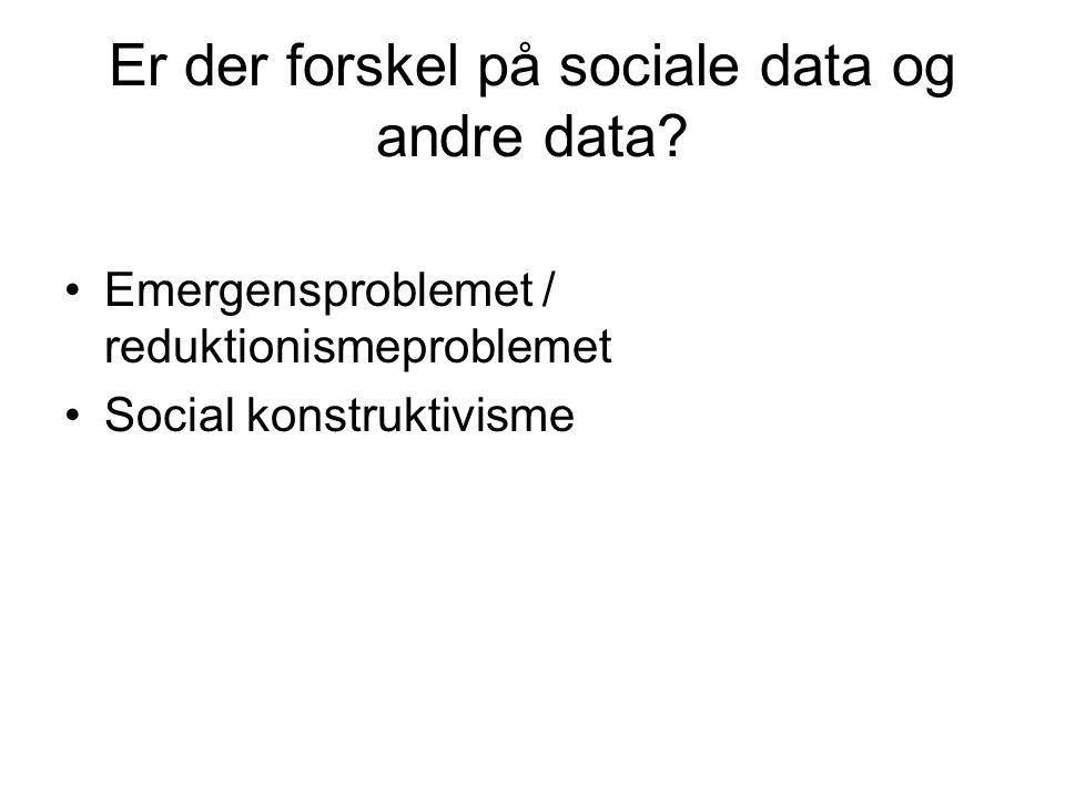 Er der forskel på sociale data og andre data