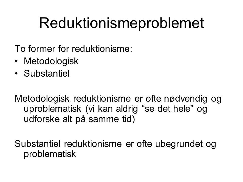 Reduktionismeproblemet