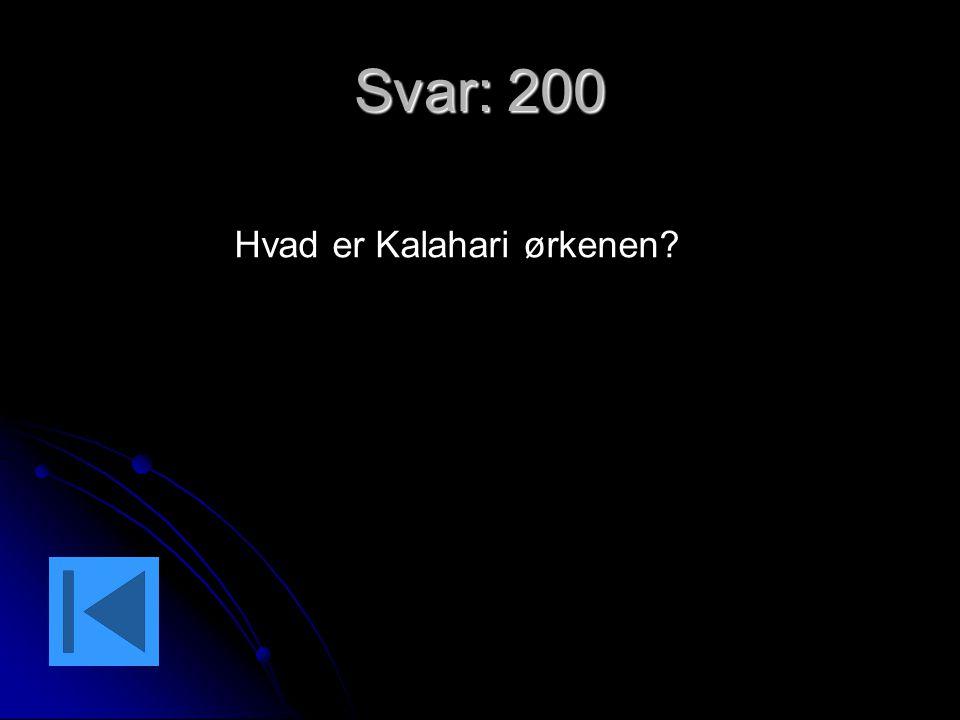 Hvad er Kalahari ørkenen