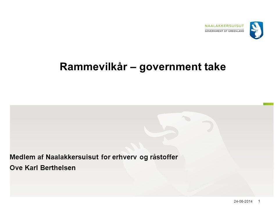 Rammevilkår – government take
