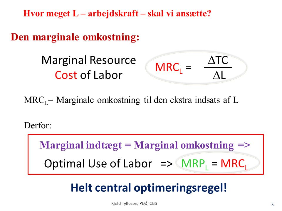 how to find marginal cost of labor